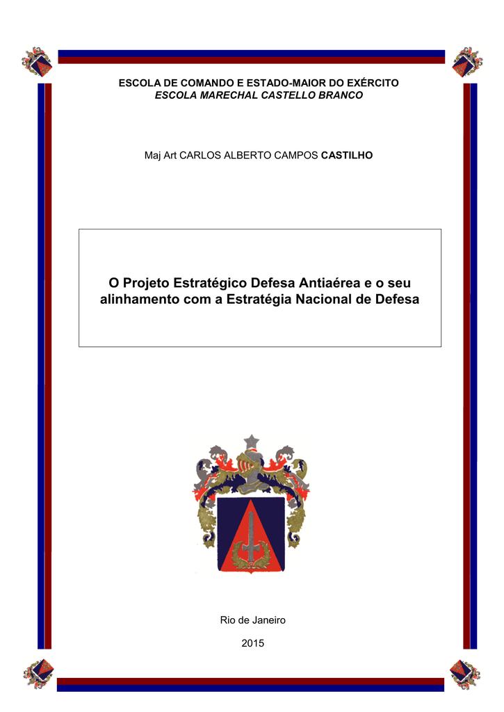 O Projeto Estratégico Defesa Antiaérea e o seu 57c094851b6