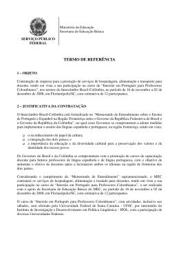 TERMO DE REFERÊNCIA - Ministério da Educação