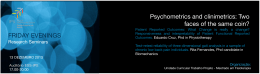 Psychometrics and clinimetrics: Two faces of the same coin?