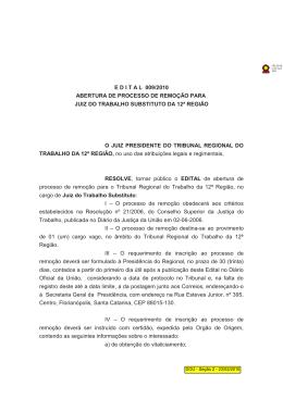 12ª Região - 2010 - Tribunal Regional do Trabalho da 2ª Região SP