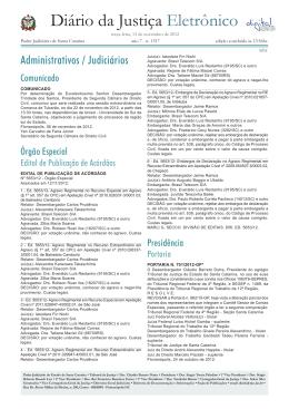 Diário da Justiça Eletrônico - Tribunal de Justiça de Santa Catarina