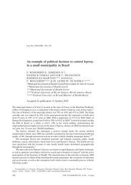 340 An example of political decision to control leprosy in a