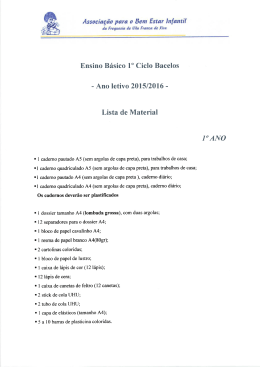 Material 1º ano