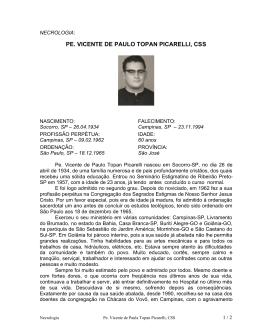 Picarelli, Vicente de Paulo Topan, Pe.