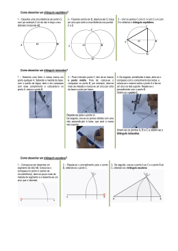 Como desenhar um triângulo equilátero? Como desenhar um