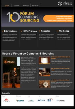 Sobre o Fórum de Compras & Sourcing