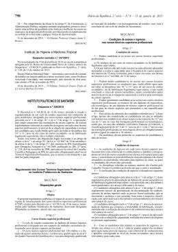 Despacho n.º 338/2015 - Instituto Politécnico de Santarém