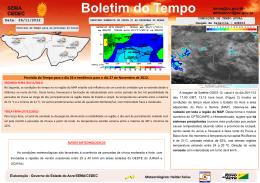Data: 26/11/2012 Meteorologista: Helder Farias Previsão do Tempo