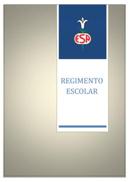 Regimento Escolar - Externato Santo Antonio