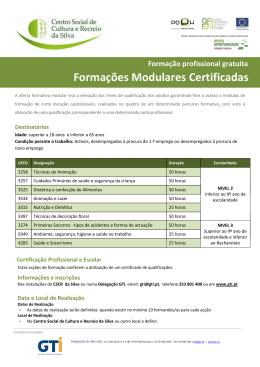 Formações Modulares Certificadas
