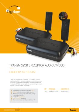 digidom av 5.8 ghz transmissor e receptor audio / vídeo