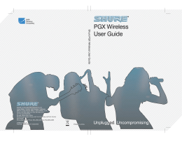 Shure PGX Wireless User Guide Portuguese