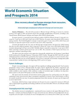 World Economic Situation and Prospects 2014