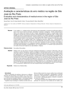 Evaluation and characteristics of medical errors in the region of São
