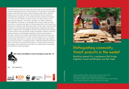 Distinguishing community forest products in the market