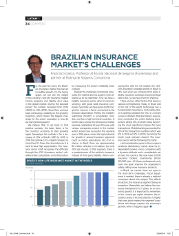 BRAZILIAN INSURANCE MARKET`S CHALLENGES