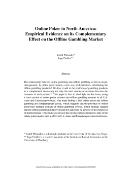 Online Poker in North America: Empirical Evidence on