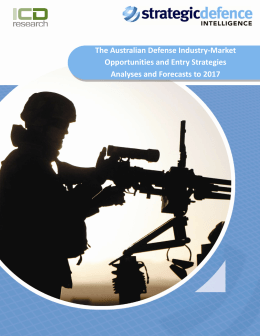 The Australian Defense Industry‐Market Opportunities and