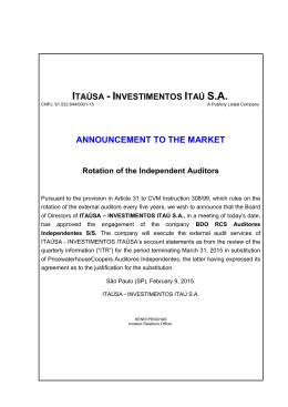 Announcement to the Market - Rotation of the Independent