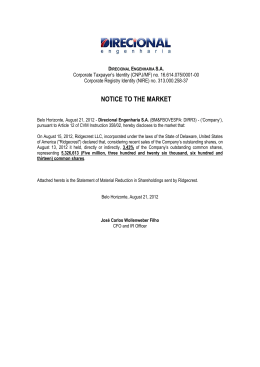Notice to the Market - Direcional Engenharia