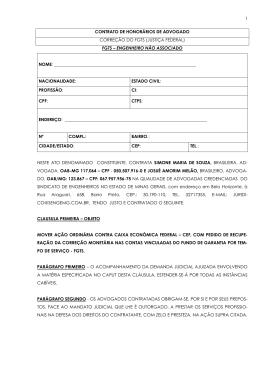 1 contrato de honorários de advogado correção do fgts - Senge-MG
