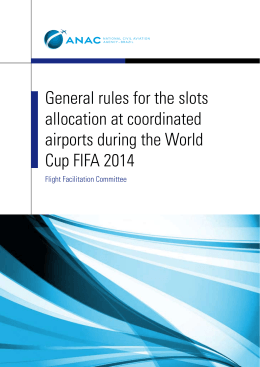 General rules for the slots allocation at coordinated airports