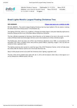 Brazil Lights World`s Largest Floating Christmas Tree