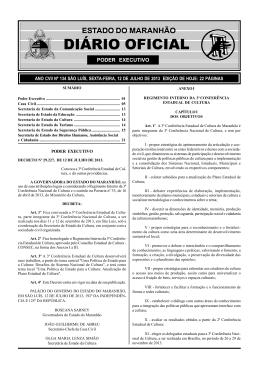 diário oficial - legisla - Governo do Estado do Maranhão