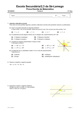 Escola Secundária/2,3 da Sé-Lamego Prova Escrita de Matemática