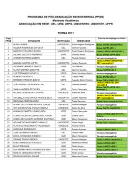 bolsas TURMA 2011 - setembro 2011