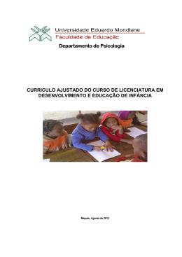 Curriculo DEI - Faculdade de Educação