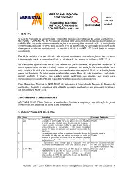 GA07 - Requisitos Técnicos Gases Combustíveis - NBR