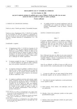 REGULAMENTO (CE) N.o 1559/2006 DA COMISSÃO de