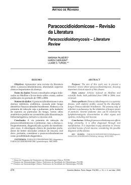 Paracoccidioidomicose – Revisão da Literatura