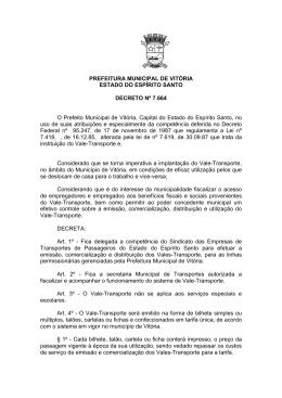 PREFEITURA MUNICIPAL DE VITÓRIA ESTADO DO