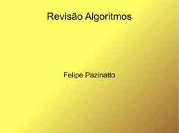 Revisão Algoritmos
