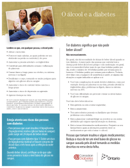 O álcool e a diabetes - People for Education