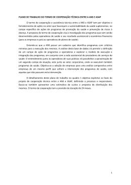1 PLANO DE TRABALHO DO TERMO DE COOPERAÇÃO TÉCNICA