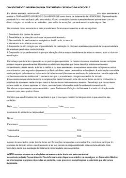 Consentimento Informado para Tratamento Cirúrgico da - SBU-MG