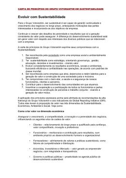 Sustentabilidade - Carta de Princípios port
