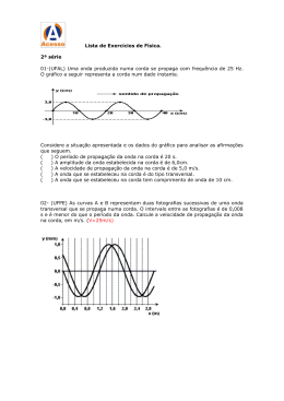 Uma onda produzida numa corda se propaga com frequência de 25