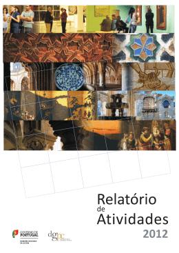 capa relatório actividades 2012 - Direção Geral do Património Cultural