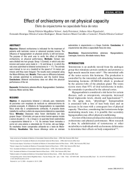 Effect of orchiectomy on rat physical capacity