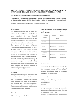 phytochemical screening comparative of the commercial