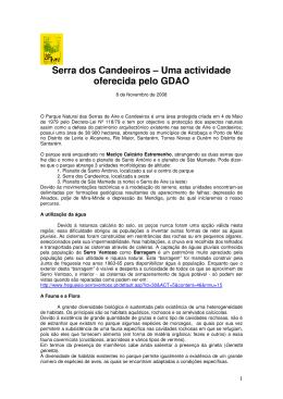 Serra dos Candeeiros – Uma actividade oferecida pelo GDAO