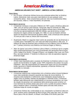 AMERICAN AIRLINES FACT SHEET - AMÉRICA LATINA E MÉXICO