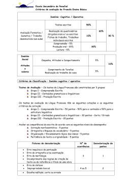 Escola Secundária de Penafiel Critérios de avaliação de Francês