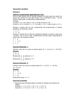 Geometria Analítica Módulo 8 - Disciplinas On-line