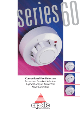 Ionisation Smoke Detectors Optical Smoke Detectors