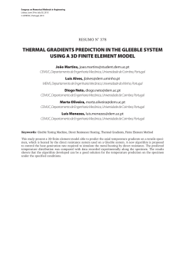 thermal gradients prediction in the gleeble system using a 3d finite